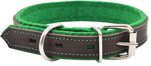 Зооэкспресс ошейник SUOMI LINE коричневый/зеленый 35мм 50-60см