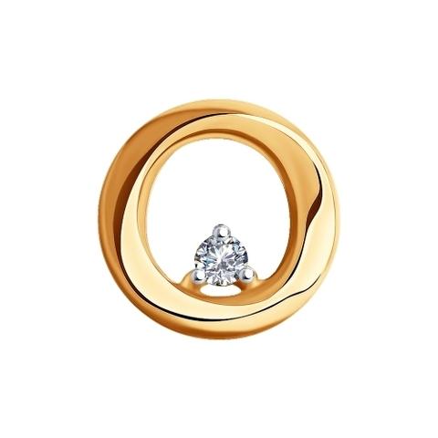 1030790 - Подвеска из золота с бриллиантом