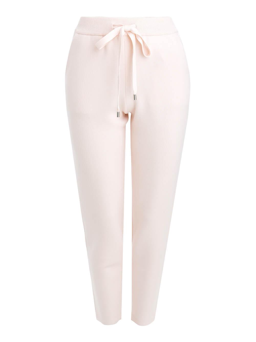 Женские брюки светло-розового цвета из вискозы - фото 1