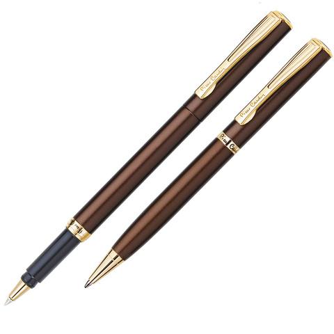 Набор подарочный Pierre Cardin Pen&Pen - Brown, шариковая ручка + ручка-роллер, M