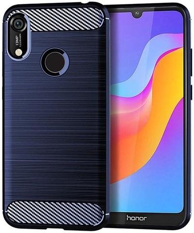 Чехол Huawei Y6 2019 (Honor 8A Pro) цвет Blue (синий), серия Carbon, Caseport
