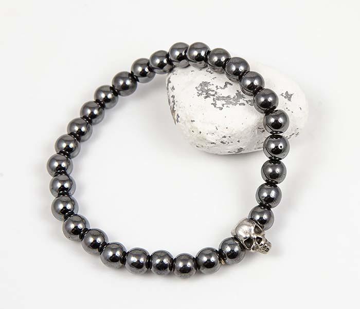 Boroda Design, Мужской браслет из гематита с черепом