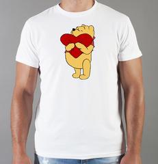 Футболка с принтом мультфильма Винни-Пух (Winnie the Pooh) белая 006