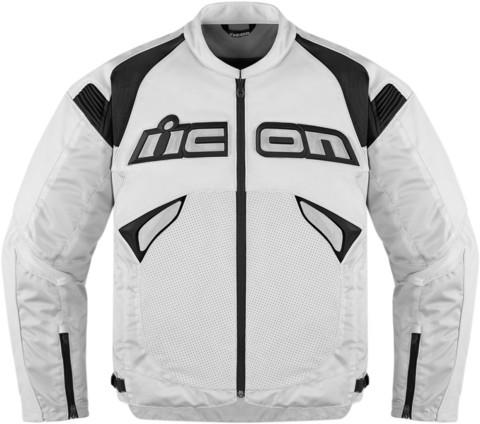 Мотокуртка - ICON SANCTUARY (кожа, белая)