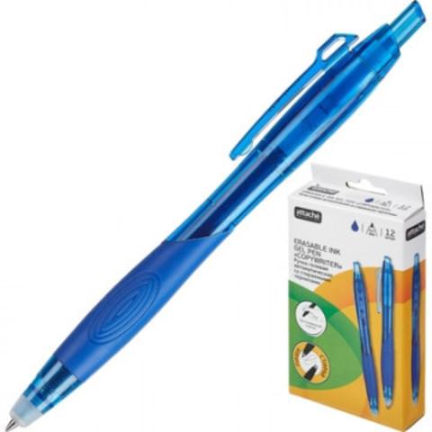 Ручка гелевая со стираемыми чернилами Attache Selection EGP1608 синяя (толщина линии 0.7 мм)