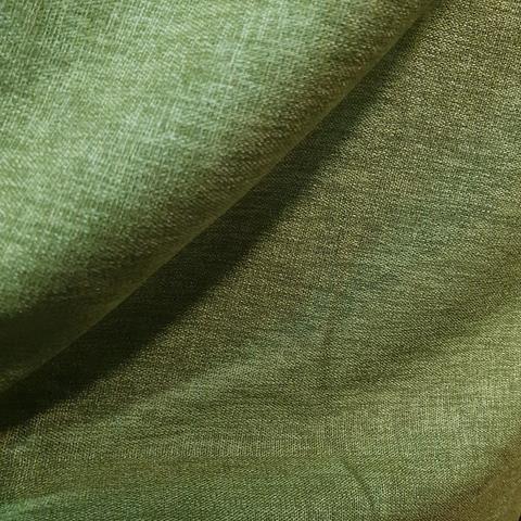 Блэкаут лен для штор зеленый оптом. BLL-19