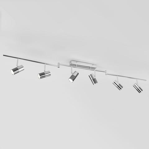 Потолочный светодиодный светильник с поворотными плафонами 20086/6 LED хром/черный жемчуг