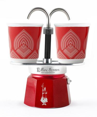 Bialetti Mini Express, Гейзерная кофеварка на 2 порции с 2-мя чашками