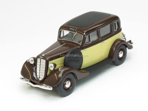 GAZ-M1 Taxi beige-brown 1:43 Nash Avtoprom
