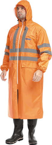 Плащ влагозащитный оранжевый