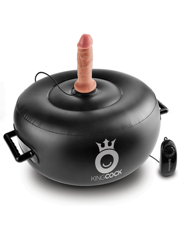 PipeDream King Cock VIBRATING INFLATABLE HOT SEAT с двумя насадками