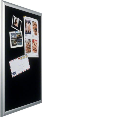 Наружная рамка с дверцей алюминиевая с пенопластовой вставкой черной для встраиваемых щитков Volta,3-рядных, для канцелярских кнопок