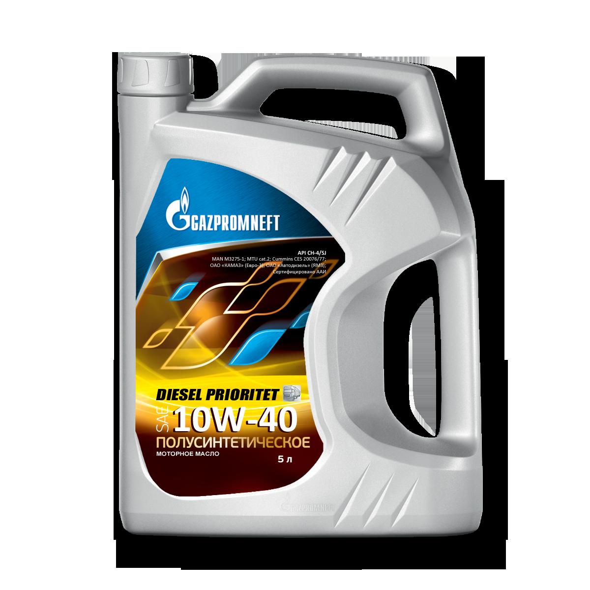 Gazpromneft Diesel Prioritet 10W40 Полусинтетическое моторное масло