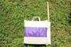 Гамак кресло из льна с поролоновыми вставками фиолетовый RGK4F