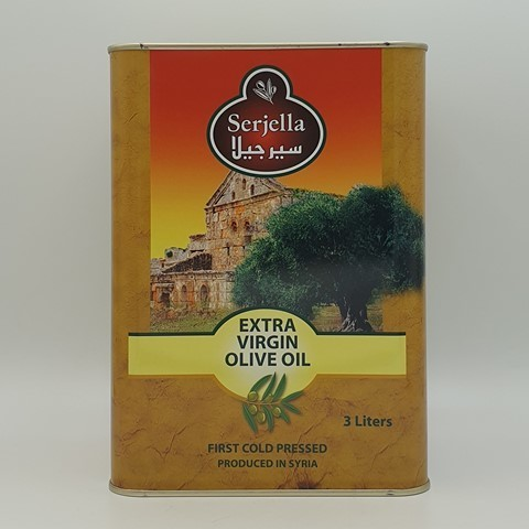 Масло оливковое нерафинированное первого отжима Extra Virgin SERJELLA, 3 л
