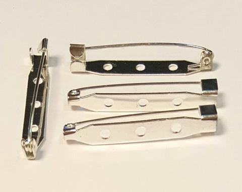 Основа для броши - булавка 40 мм. 3 отверстия