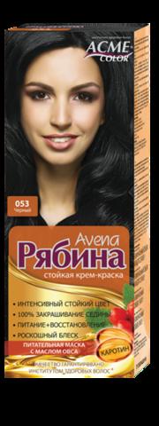 Рябина Avena Крем-краска для волос тон №053 черный
