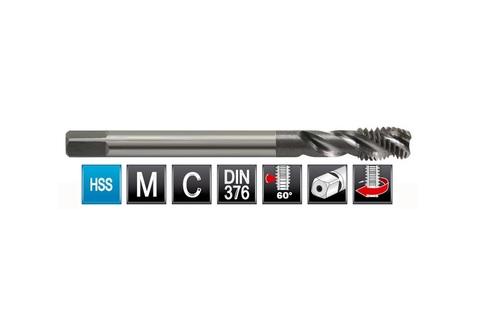 Метчик М10х1,5 (Машинный, спиральный) DIN376 2N(6h) C2,5P HSS L100мм Bucovice(CzTool) 106100