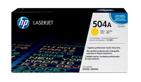 Оригинальный картридж HP CE252A (№504A), желтый