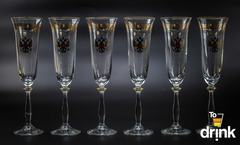 Подарочный набор из 6 хрустальных фужеров для шампанского «Министерский», 190 мл, фото 4