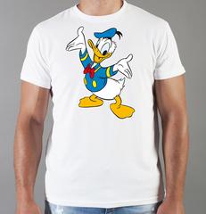 Футболка с принтом мультфильма Дональд Дак (Donald  Duck) белая 008