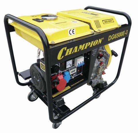 Дизельный генератор Champion DG6500E-3 5.5кВт