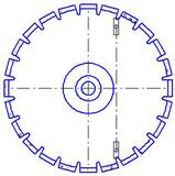Увеличение посадочного отверстия диска