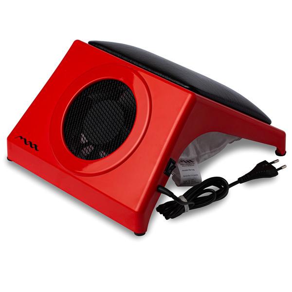 Настольная вытяжка для маникюра MAX Storm 4 Красный (32Вт max), с подушкой BLACK фото
