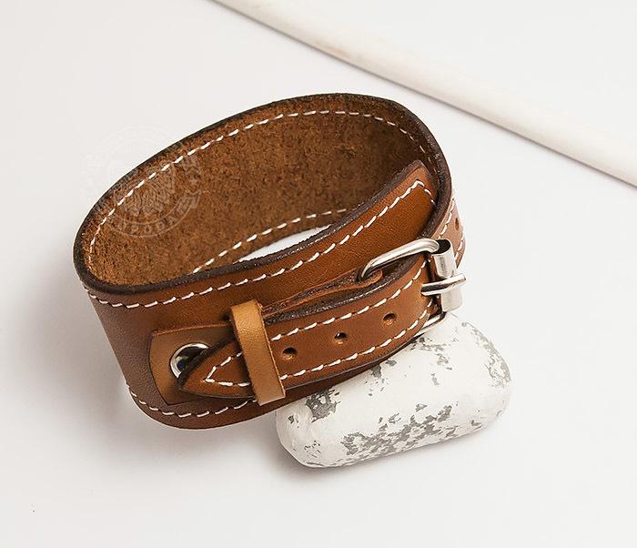 Boroda Design, Кожаный браслет ручной работы с металлической застежкой. «Boroda Design» boroda design браслет шамбала ручной работы из бычего глаза