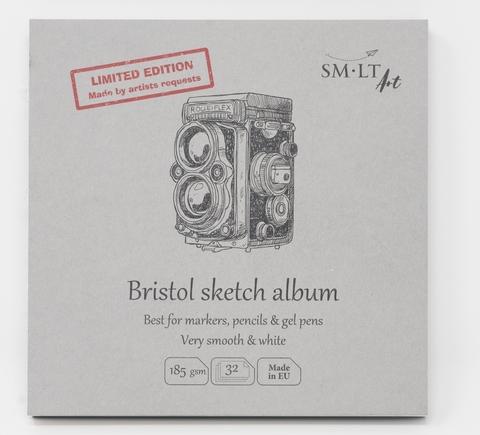 Альбом Layflat sketch Bristol 185г/м2 148*148мм 32листа книжный переплет (сшитый)