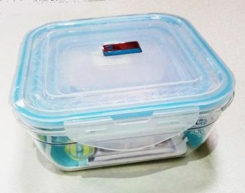 Контейнер пищевой герметичный 2692/ набор 3шт,квадратный