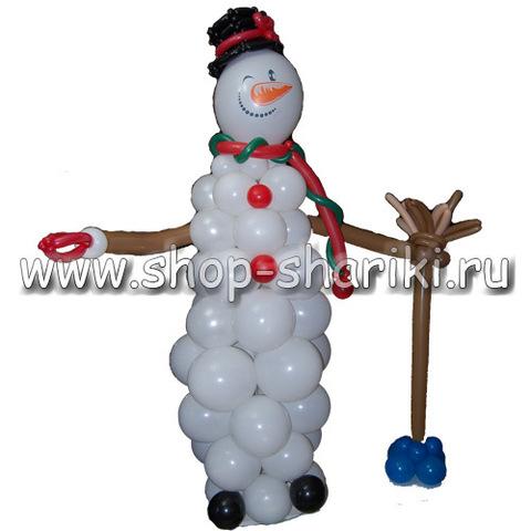 shop-shariki.ru снеговик из воздушных шаров