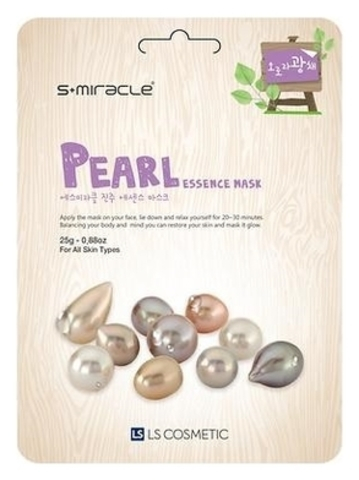 Тканевая маска для лица с экстрактом жемчуга S+Miracle Pearl Essence Mask
