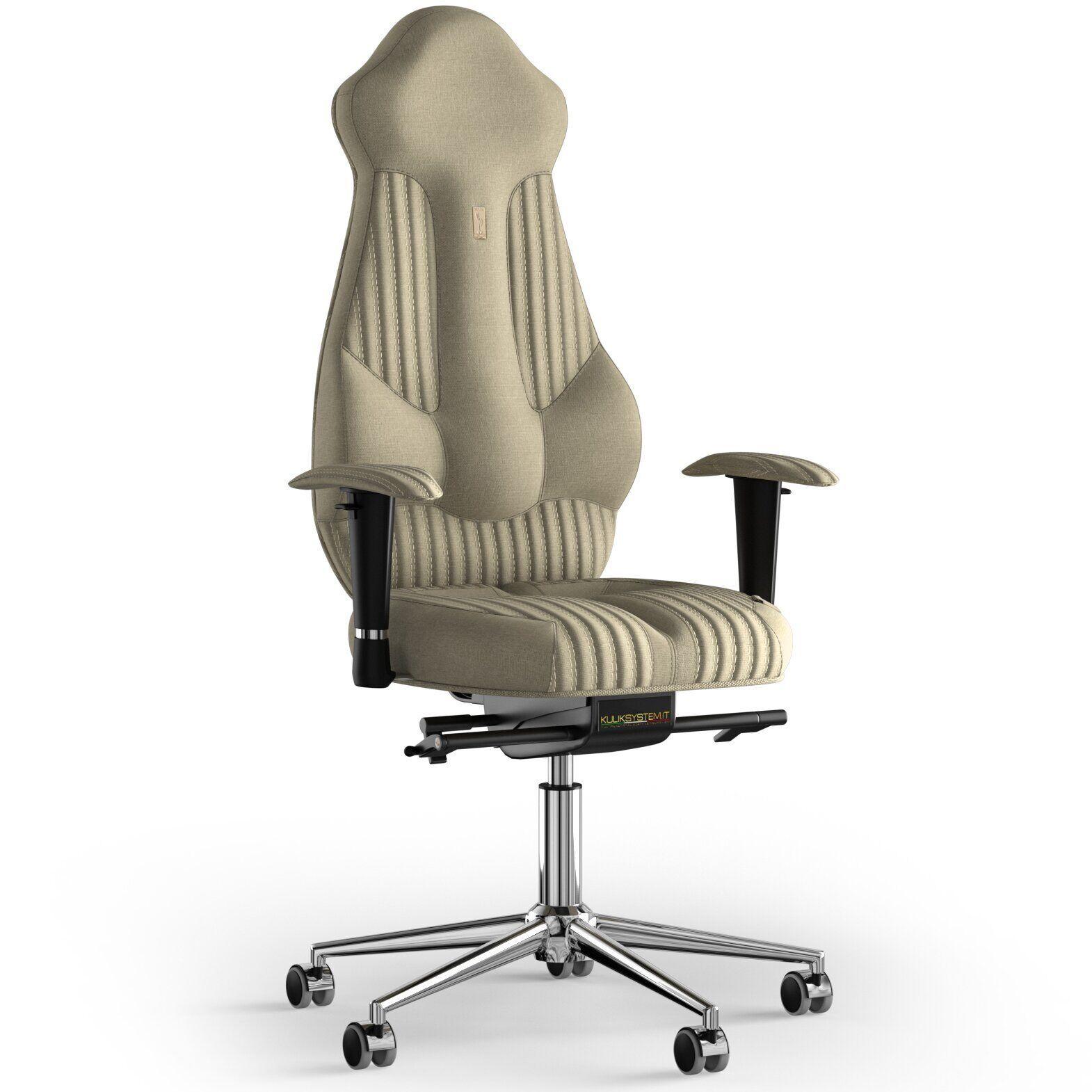 Кресло KULIK SYSTEM IMPERIAL Ткань с подголовником со строчкой