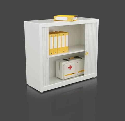 Шкаф с раздвижными роллетами (105х120х45) - фото