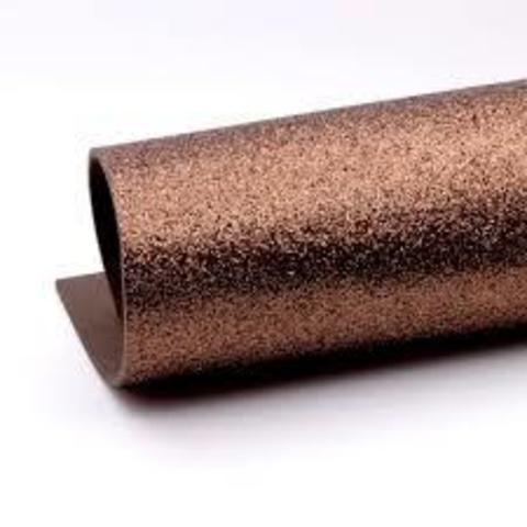 Глиттерный фоамиран. Цвет: коричневый