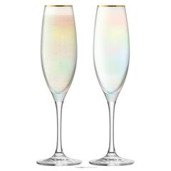 Набор из 2 бокалов-флейт для шампанского Sorbet ,225 мл перламутр, фото 1