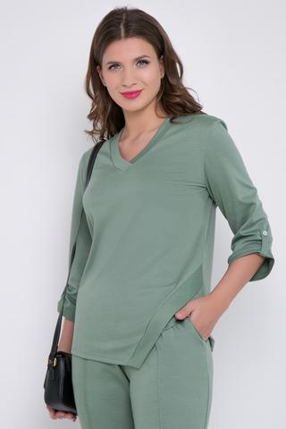 <p>Модный стиль kasual&nbsp; завоевал популярность в этом сезоне. Эта модель для уверенных и целеустремленных представителниц прекрасного пола. Свободный блузон с рукавом 3/4 с патой и свободные брюки на резинке - отличное сочетание для модного выхода в свет.</p>