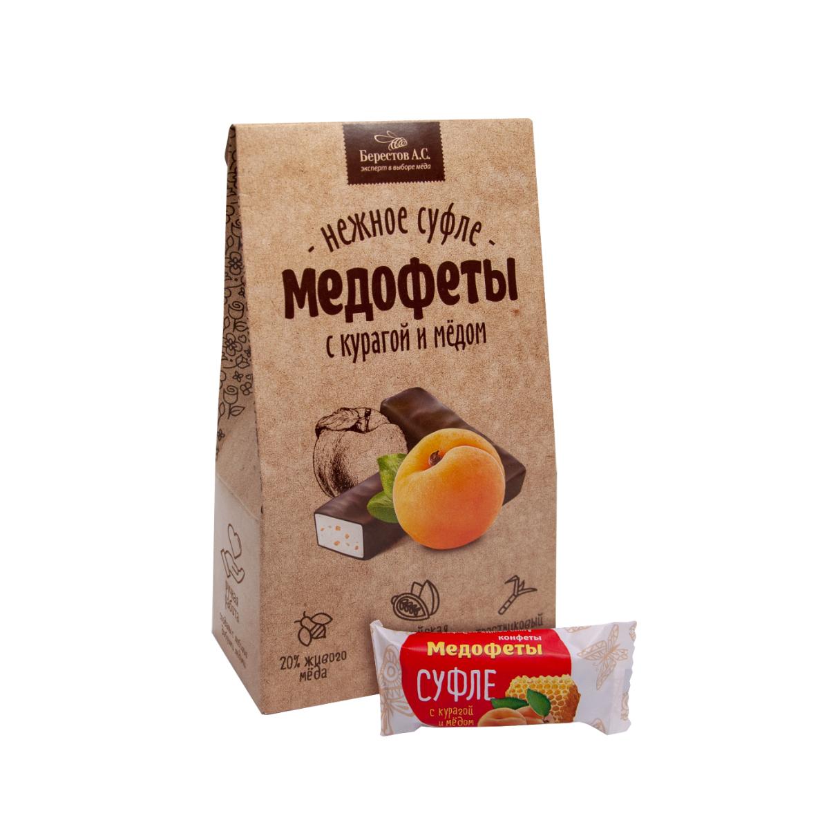 Медофеты Суфле с курагой и медом в шоколадной глазури