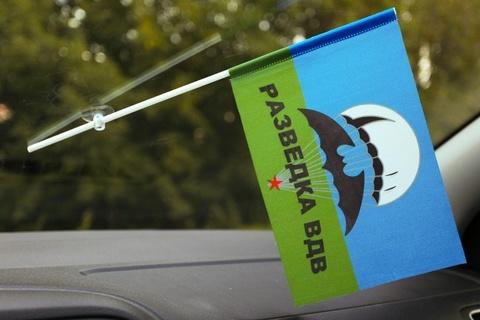 Флаг ВДВ Разведка в машину 15x23 см с присоской