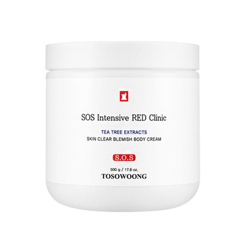 Крем для тела TOSOWOONG SOS Intensive Red Clinic Skin Clear Blemish Body Cream 500g