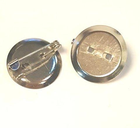 Основа для броши - диск 20мм платина