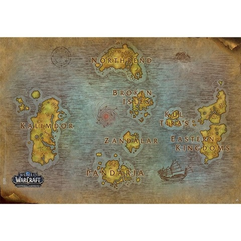 Постер ABYstyle: WORLD OF WARCRAFT: Poster Map (91.5x61)