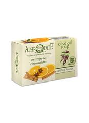 Греческое оливковое мыло Афродита корица и апельсин