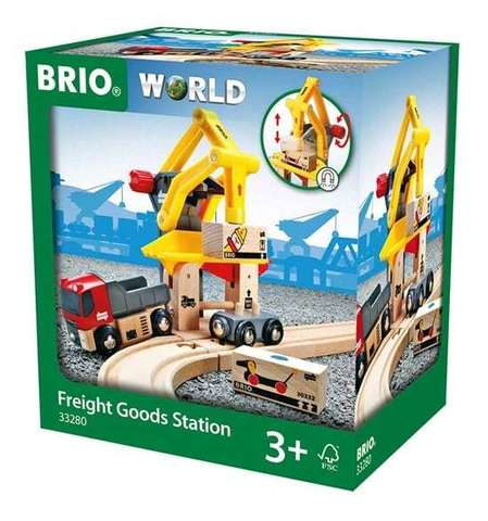 BRIO Грузоподъемный пункт с машинками и грузами на магнитах, 6 элементов
