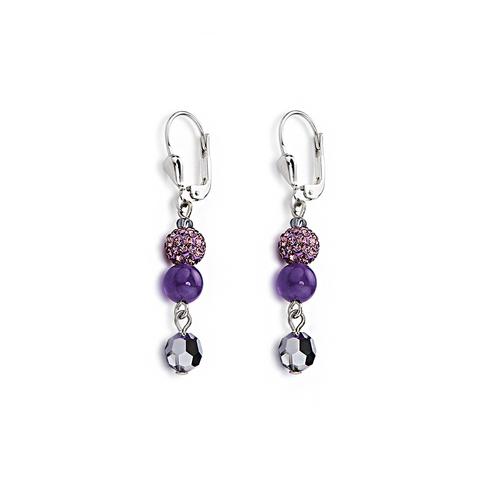 Серьги Coeur de Lion 4895/20-0800 цвет фиолетовый