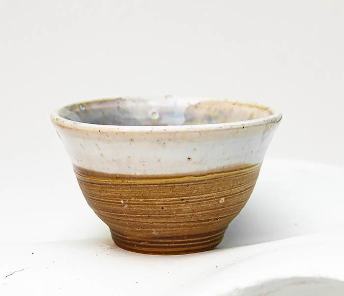 CUP115 Пиала ручной работы коричневого цвета