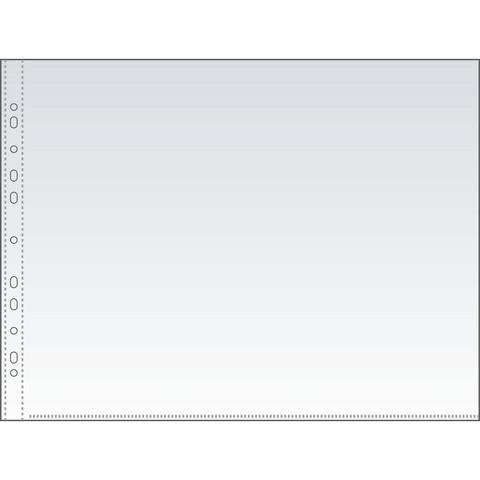 Файл-вкладыш горизонтальный Attache А3 35 мкм прозрачный гладкий 50 штук в упаковке