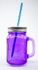 Баночка для смузи и коктейлей, фиолетовая