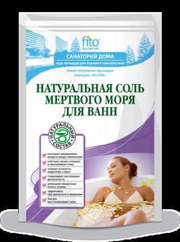 Фитокосметик Санаторий дома Соль для ванн Мертвого моря Натуральная (500+30)мл